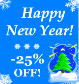 Happy New Year! 25% discount on all orders!