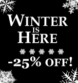 Winter is here! 25% discount on all orders!